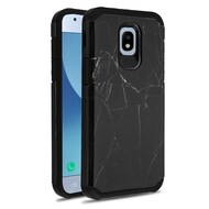 Hybrid Multi-Layer Armor Case for Samsung Galaxy J3 (2018) - Marble Black
