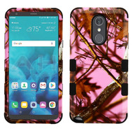 Military Grade Certified TUFF Image Hybrid Armor Case for LG Stylo 4 - Pink Oak Hunting Camouflage