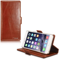 *SALE* Genuine Leather Handmade Wallet Case for iPhone 6 / 6S - Brown