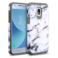 Hybrid Multi-Layer Armor Case for Samsung Galaxy J3 (2018) - Marble White