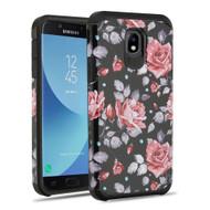 Hybrid Multi-Layer Armor Case for Samsung Galaxy J7 (2018) - Rose Black