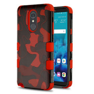 Military Grade Certified TUFF Image Hybrid Armor Case for LG Stylo 4 - Camouflage Red