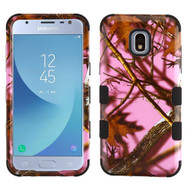 Military Grade Certified TUFF Image Hybrid Armor Case for Samsung Galaxy J3 (2018) - Pink Oak Hunting Camouflage