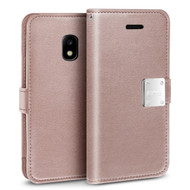 Essential Leather Wallet Case for Samsung Galaxy J3 (2018) - Rose Gold