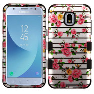 Military Grade Certified TUFF Image Hybrid Armor Case for Samsung Galaxy J3 (2018) - Pink Fresh Rose 2D