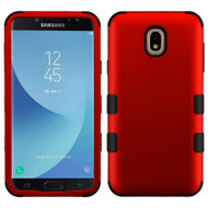 Military Grade Certified TUFF Hybrid Armor Case for Samsung Galaxy J7 (2018) - Red