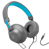 HyperGear V50 Stereo Headphones with In-Line Microphone and Remote - Grey Blue