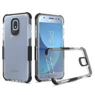 *Sale* Transparent Protective Bumper Case for Samsung Galaxy J3 (2018) - Black