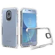 *Sale* Transparent Protective Bumper Case for Samsung Galaxy J3 (2018) - White