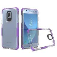 *Sale* Transparent Protective Bumper Case for Samsung Galaxy J3 (2018) - Purple