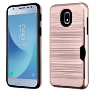 *Sale* ID Card Slot Hybrid Case for Samsung Galaxy J3 (2018) - Rose Gold