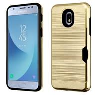 *Sale* ID Card Slot Hybrid Case for Samsung Galaxy J3 (2018) - Gold