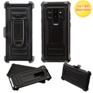 Advanced Hybrid Armor Case and Holster for Samsung Galaxy S9 Plus - Black