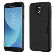 ID Card Slot Hybrid Case for Samsung Galaxy J7 (2018) - Black