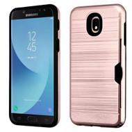 ID Card Slot Hybrid Case for Samsung Galaxy J7 (2018) - Rose Gold