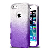 Tuff Full Glitter Hybrid Protective Case for iPhone SE / 5S / 5 - Gradient Purple