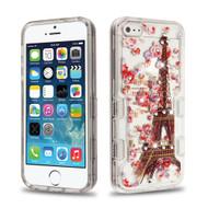 TUFF Panoview Diamante Transparent Hybrid Case for iPhone SE / 5S / 5 - Paris Full Bloom