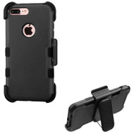 Military Grade Certified TUFF Hybrid Armor Case with Holster for iPhone 8 Plus / 7 Plus - Black 251