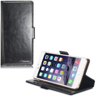 Genuine Leather Handmade Wallet Case for iPhone 6 Plus / 6S Plus - Black
