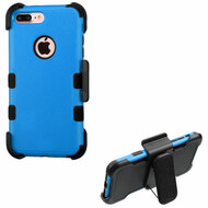Military Grade Certified TUFF Hybrid Armor Case with Holster for iPhone 8 Plus / 7 Plus - Blue 255