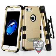 Military Grade Certified TUFF Hybrid Armor Kickstand Case with Holster for iPhone 8 / 7 - Gold