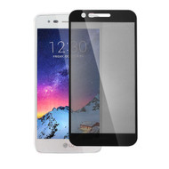 Full Coverage Premium 2.5D Round Edge HD Tempered Glass Screen Protector for LG K30 - Black