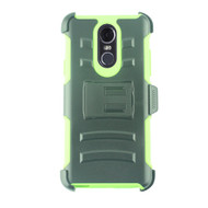 Advanced Armor Hybrid Kickstand Case with Holster and Tempered Glass Screen Protector for LG Stylo 4 - Green