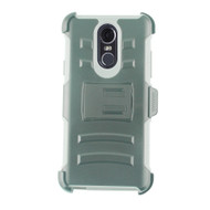 Advanced Armor Hybrid Kickstand Case with Holster and Tempered Glass Screen Protector for LG Stylo 4 - Grey