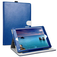 *Sale* Smart Leather Folio Wallet Stand Case with Auto Sleep/Wake for iPad (2018/2017) / iPad Air - Navy Blue