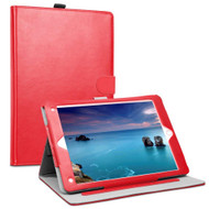 *Sale* Smart Leather Folio Wallet Stand Case with Auto Sleep/Wake for iPad (2018/2017) / iPad Air - Red