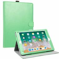 Smart Leather Folio Wallet Stand Case with Auto Sleep/Wake for iPad (2018/2017) / iPad Air - Mint Green