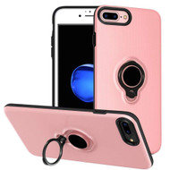Smart Power Bank Battery Case 2500mAh with Ring Holder for iPhone 8 / 7 / 6S / 6 - Pink