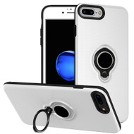 Smart Power Bank Battery Case 2500mAh with Ring Holder for iPhone 8 / 7 / 6S / 6 - White
