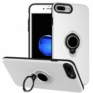 Smart Power Bank Battery Case 3700mAh with Ring Holder for iPhone 8 Plus / 7 Plus / 6S Plus / 6 Plus - White