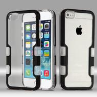 TUFF Panoview Transparent Hybrid Case for iPhone SE / 5S / 5 - Black
