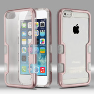 TUFF Panoview Transparent Hybrid Case for iPhone SE / 5S / 5 - Rose Gold