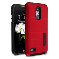 Haptic Dots Texture Anti-Slip Hybrid Armor Case for LG Aristo 2 / Fortune 2 / K8 (2018) / Tribute Dynasty / Zone 4 - Red