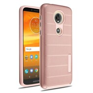 Haptic Dots Texture Anti-Slip Hybrid Armor Case for Motorola Moto E5 Plus - Rose Gold