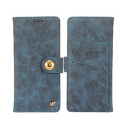 Faux Suede Leather Wallet with Detachable Magnetic Case for Motorola Moto E5 Plus - Blue