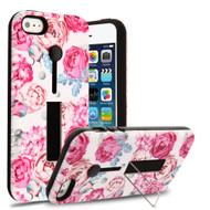 Finger Loop Case with Kickstand for iPhone SE / 5S / 5 - Victorian Flower