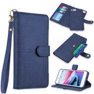 Napa Collection Luxury Leather Wallet with Magnetic Detachable Case for iPhone 8 / 7 / 6S / 6 - Navy Blue
