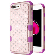 Military Grade Certified TUFF Diamond Hybrid Armor Case for iPhone 8 Plus / 7 Plus / 6S Plus / 6 Plus - Rose Gold Electric Purple