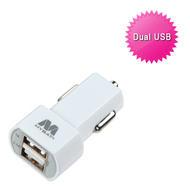 Mybat Universal Dual USB Vehicle Car Charger 3.1A - White