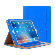 Slim Folding Stand Smart Leather Folio Case and Screen Protector for iPad (2018/2017) / iPad Air - Blue
