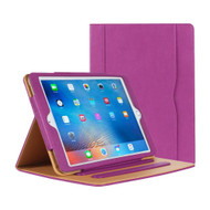 Slim Folding Stand Smart Leather Folio Case and Screen Protector for iPad (2018/2017) / iPad Air - Purple