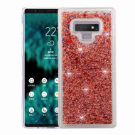 Quicksand Glitter Transparent Case for Samsung Galaxy Note 9 - Rose Gold