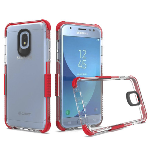 Transparent Protective Bumper Case for Samsung Galaxy J3 (2018) - Red