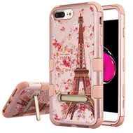Military Grade Certified TUFF Hybrid Armor Case with Stand for iPhone 8 Plus / 7 Plus / 6S Plus / 6 Plus - Paris in Full Bloom