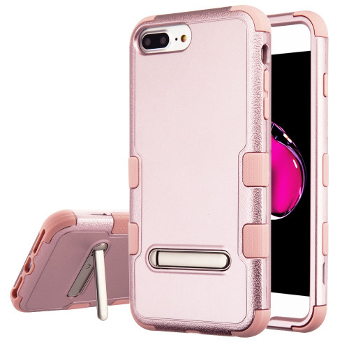 Military Grade Certified TUFF Hybrid Armor Case with Stand for iPhone 8 Plus / 7 Plus / 6S Plus / 6 Plus - Rose Gold