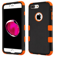 Military Grade Certified TUFF Hybrid Armor Case for iPhone 8 Plus / 7 Plus - Black Orange